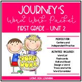 Journey's 1st Grade Word Work Practice and Center Activities - Unit 2
