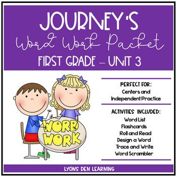 Journey's 1st Grade Word Work Practice and Center Activities - Unit 3