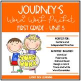 Journey's 1st Grade Word Work Practice and Center Activities - Unit 5