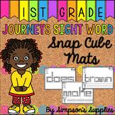 Journeys Snap Cube Sight Word Mats | First Grade