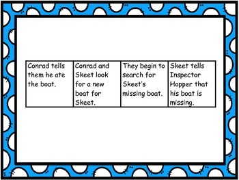 "Journeys 1st grade ""A Boat Disappears"" Sequence Map"