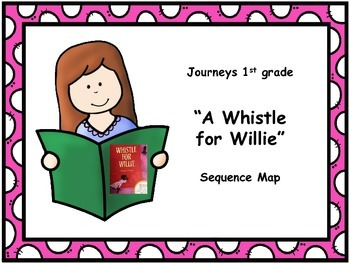 """Journeys 1st grade """"A Whistle for Willie"""" Sequence Map"""
