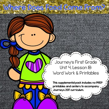Journeys 1st grade Lesson 18 Resource Pack