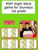 Journeys 1st grade Pop! Sight Word Game