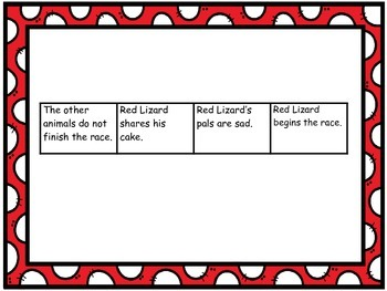 """Journeys 1st grade """"The Big Race"""" Sequence Map"""