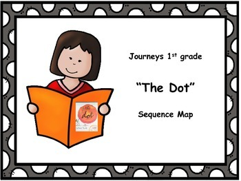 "Journeys 1st grade ""The Dot"" Sequence Map"