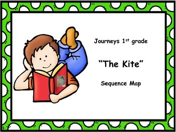 """Journeys 1st grade """"The Kite"""" Sequence Map"""