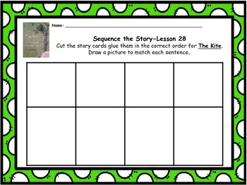 "Journeys 1st grade ""The Kite"" Sequence Map"