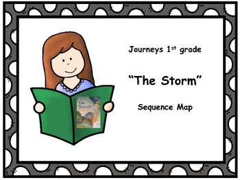 """Journeys 1st grade """"The Storm"""" Sequence Map"""