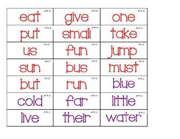 Journeys 1st grade WTK and SW flashcards Lessons 10-18