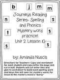 Journeys 1st grade spelling mystery word unit 2 lesson 10