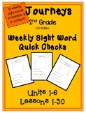Journeys 2011- 2nd Grade Weekly Sight Word Assessments