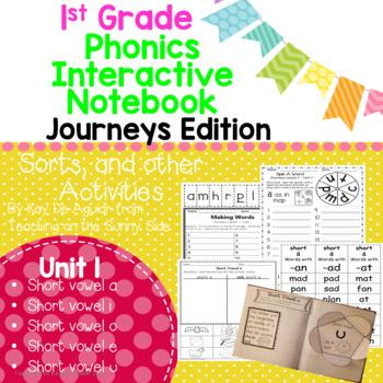 Journeys Unit 1 1st Grade Phonics Skill, Interactive Noteb