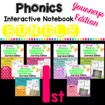 Journeys 2012 and 2014 1st Grade Phonics Skill Interactive Notebook Bundle