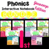 1st Grade Phonics Interactive Notebook Bundle:  Journeys Edition