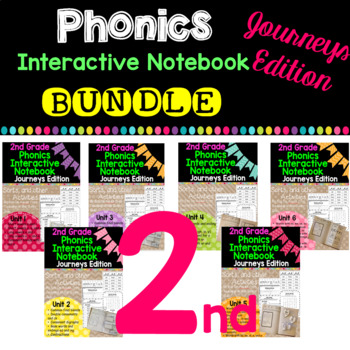 2nd Grade Phonics Interactive Notebook Bundle:  Journeys Edition