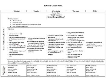 Journeys 2012 First Grade Lesson Plans-Units 1-6 Bundle