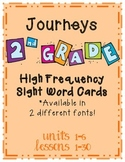 Journeys 2012 High Frequency Sight Word Cards- Second Grade
