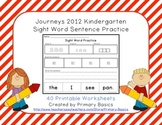 Journeys 2012 Kindergarten Sight Word Sentence Practice