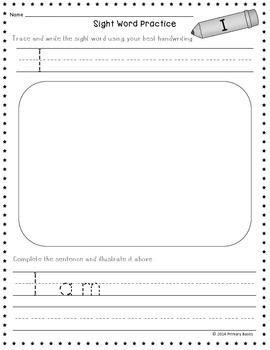 Journeys 2012 Kindergarten Sight Word Worksheets
