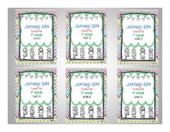 Journeys 2014 1st Grade Units 1-6 Resource Pack Bundle
