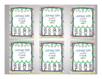 Journeys 2014 1st Grade Units 1-6 Resource Pack Bundle