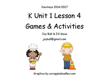Journeys 2014/2017 Kindergarten Unit 1 Lesson 4: Everybody Works