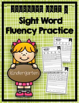 Journeys 2014 & 2017 Sight Word Fluency Practice Kindergarten all Units 1-6