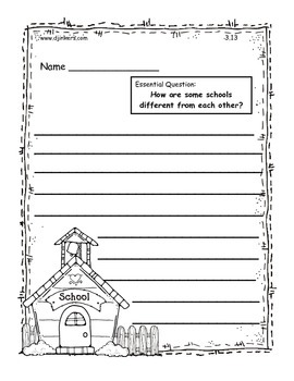 """Journeys 2014/2017 2nd Grade """"Essential Question"""" Writing Templates"""