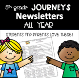 Journeys 5th Grade, Weekly Newsletters BUNDLE