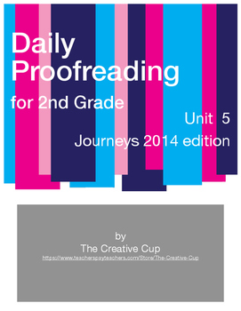 Journeys (2014) Daily Proofreading - Unit 5 for 2nd Grade