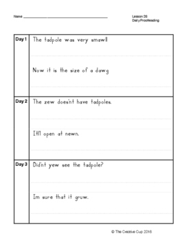 Journeys (2014) Daily Proofreading - Unit 6 for 2nd Grade
