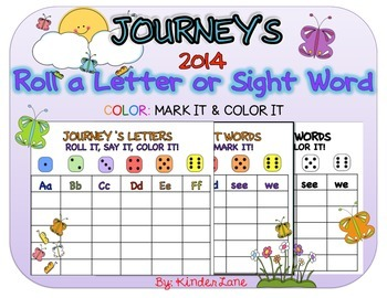 Journey's (2014 ED.) Roll a Letter or Sight Word