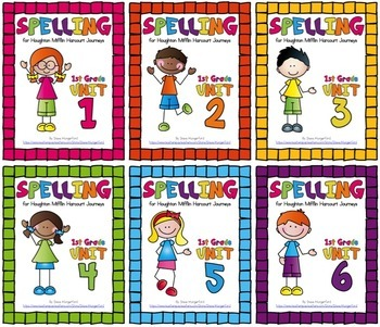 Journeys (2014, 2017 Editions), 1st Grade Spelling Materials Bundle