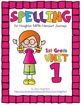 Journeys (2014, 2017 Editions), 1st Grade Spelling Materials, Unit 1