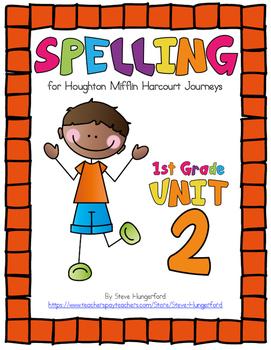 Journeys (2014, 2017 Editions), 1st Grade Spelling Materials, Unit 2