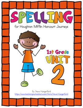 Journeys (2014, 2017 Editions), 1st Grade Spelling Materials, Unit 2