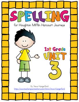 Journeys (2014, 2017 Editions), 1st Grade Spelling Materials, Unit 3