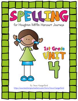 Journeys (2014, 2017 Editions), 1st Grade Spelling Materials, Unit 4
