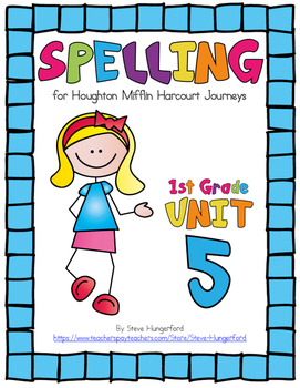 journeys 2014 2017 editions 1st grade spelling materials unit 5. Black Bedroom Furniture Sets. Home Design Ideas