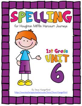 Journeys (2014, 2017 Editions), 1st Grade Spelling Materials, Unit 6