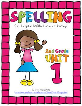 Journeys (2014, 2017 Editions), 2nd Grade Spelling Materia