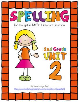 Journeys (2014, 2017 Editions), 2nd Grade Spelling Materials, Unit 2