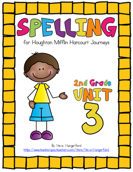 Journeys (2014, 2017 Editions), 2nd Grade Spelling Materials, Unit 3