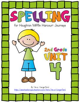 Journeys (2014, 2017 Editions), 2nd Grade Spelling Materials, Unit 4