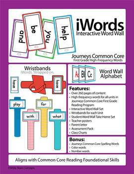 Journeys 2014 First Grade Common Core High Frequency - Sight Words