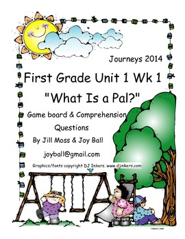 Journeys 2014 First Grade Unit 1 Lesson 1  What Is a Pal?