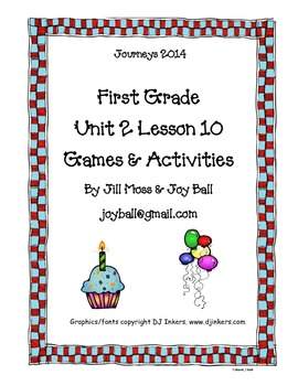Journeys 2014/2017 First Grade Unit 2 Lesson 10: A Cupcake Party