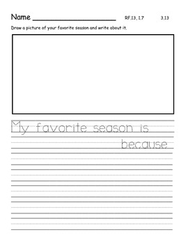 Journeys 2014/2017 First Grade Unit 3 Lesson 13: Seasons