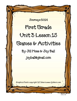 Journeys 2014 First Grade Unit 3 Lesson 15: Animal Groups